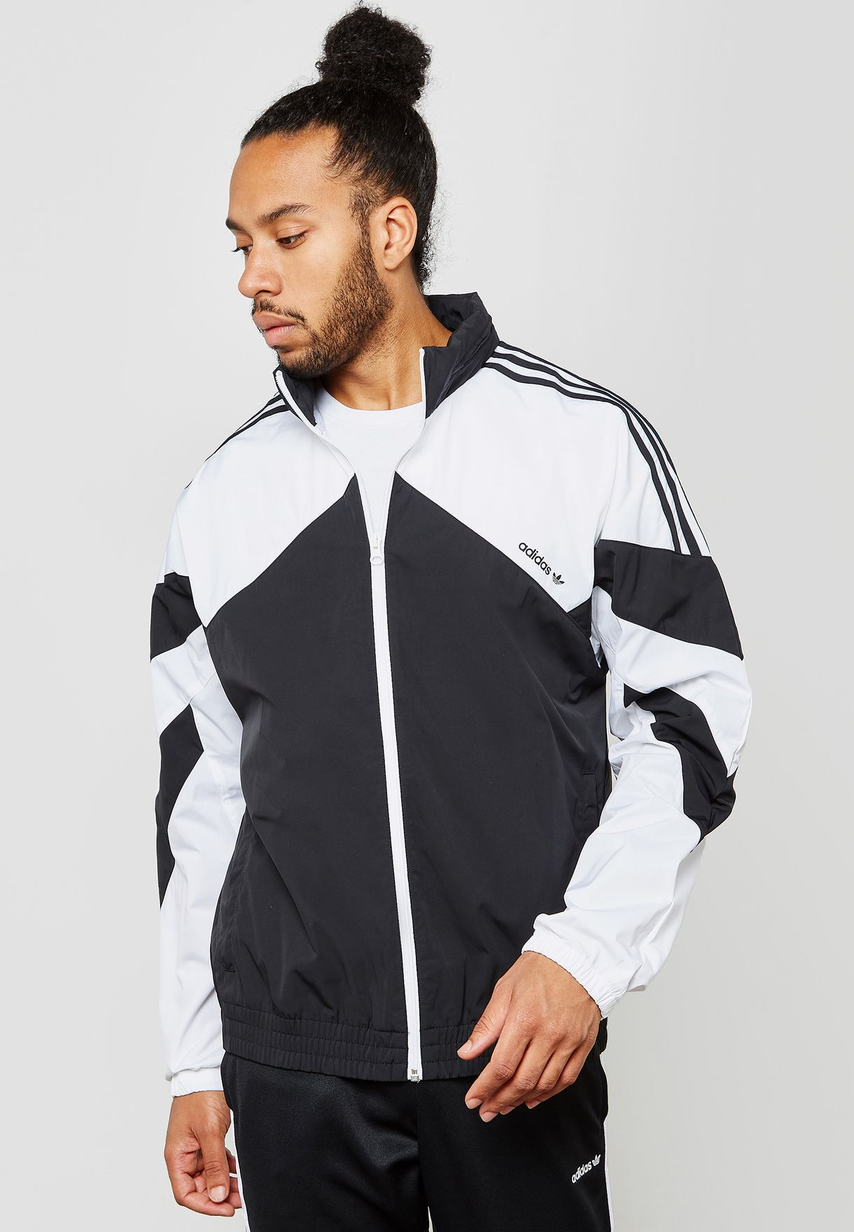 7a0ebcddbf4a Shop adidas Originals monochrome Palmeston Windbreaker Jacket DJ3450 ...