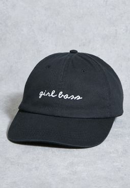 Girl Boss Washed Denim Cap