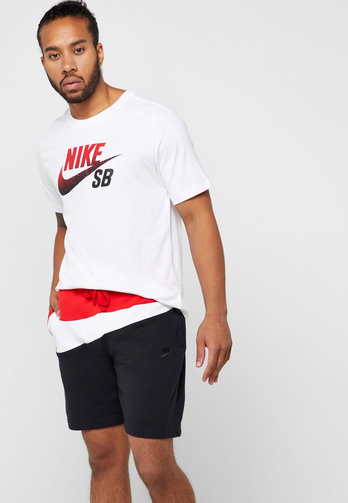 61eeb069 Shop Nike black NSW Swoosh Shorts AR3161-011 for Men in UAE ...
