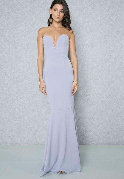 Bandeau Fishtail Dress