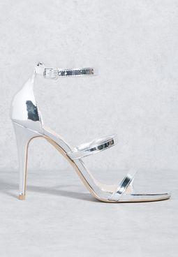 Metallic Three Strap Sandal