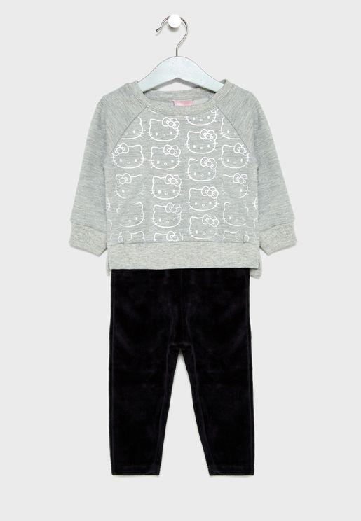 Infant Sweatshirt + Plush Pants Set