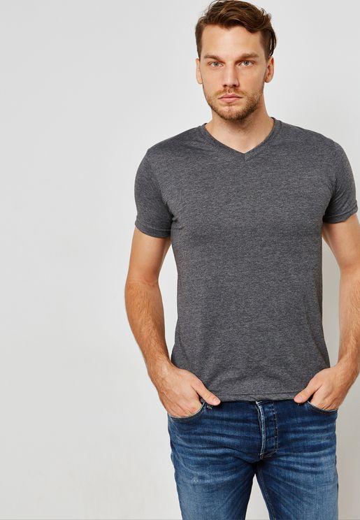 Basic V Neck T Shirt