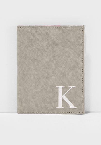 K Letter Passport Cover