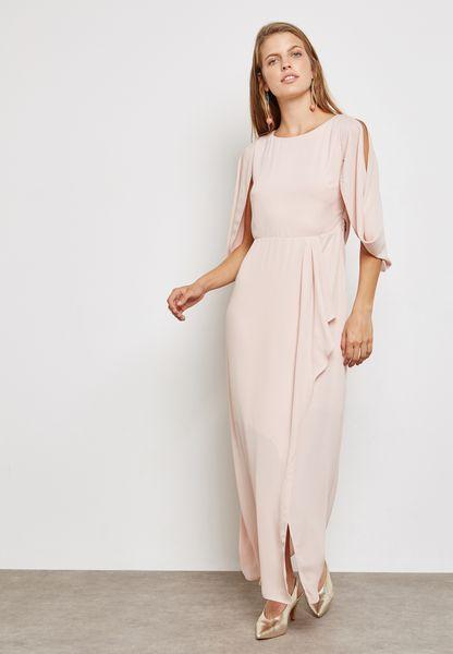 Sequin Back Maxi Dress