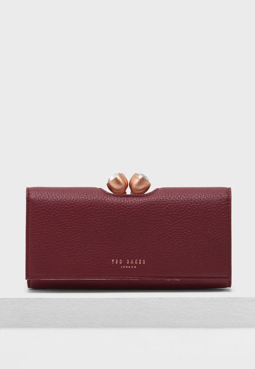 Muscovy Textured leather bobble matinee purse