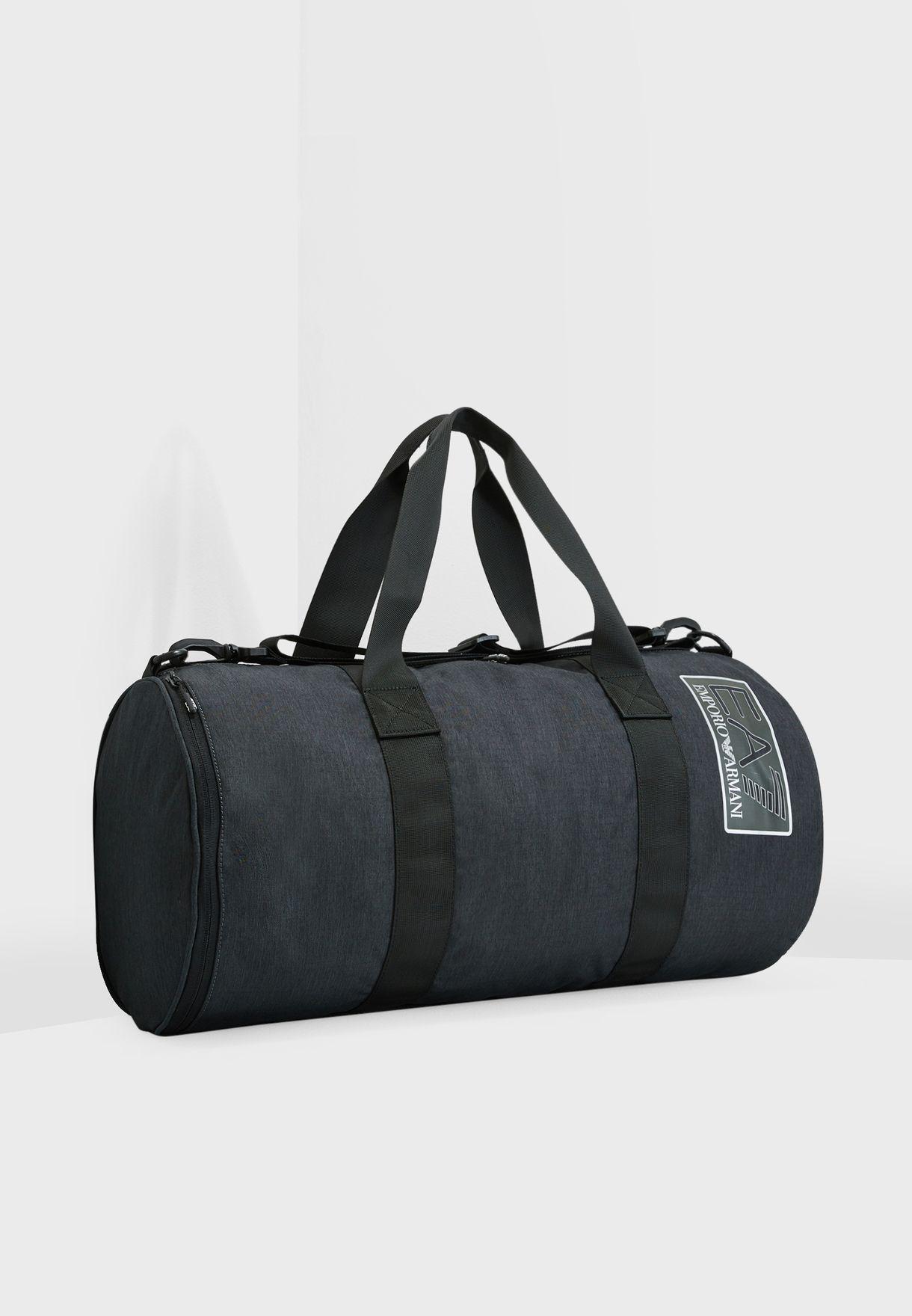 301d842e4e Shop Ea7 Emporio Armani black Train Duffle Bag 8A803-275823-27020 ...