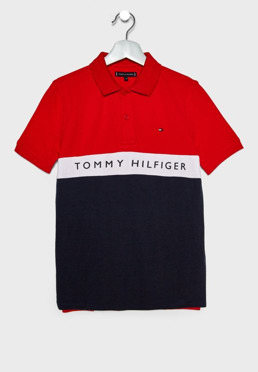Teen Color Block Polo