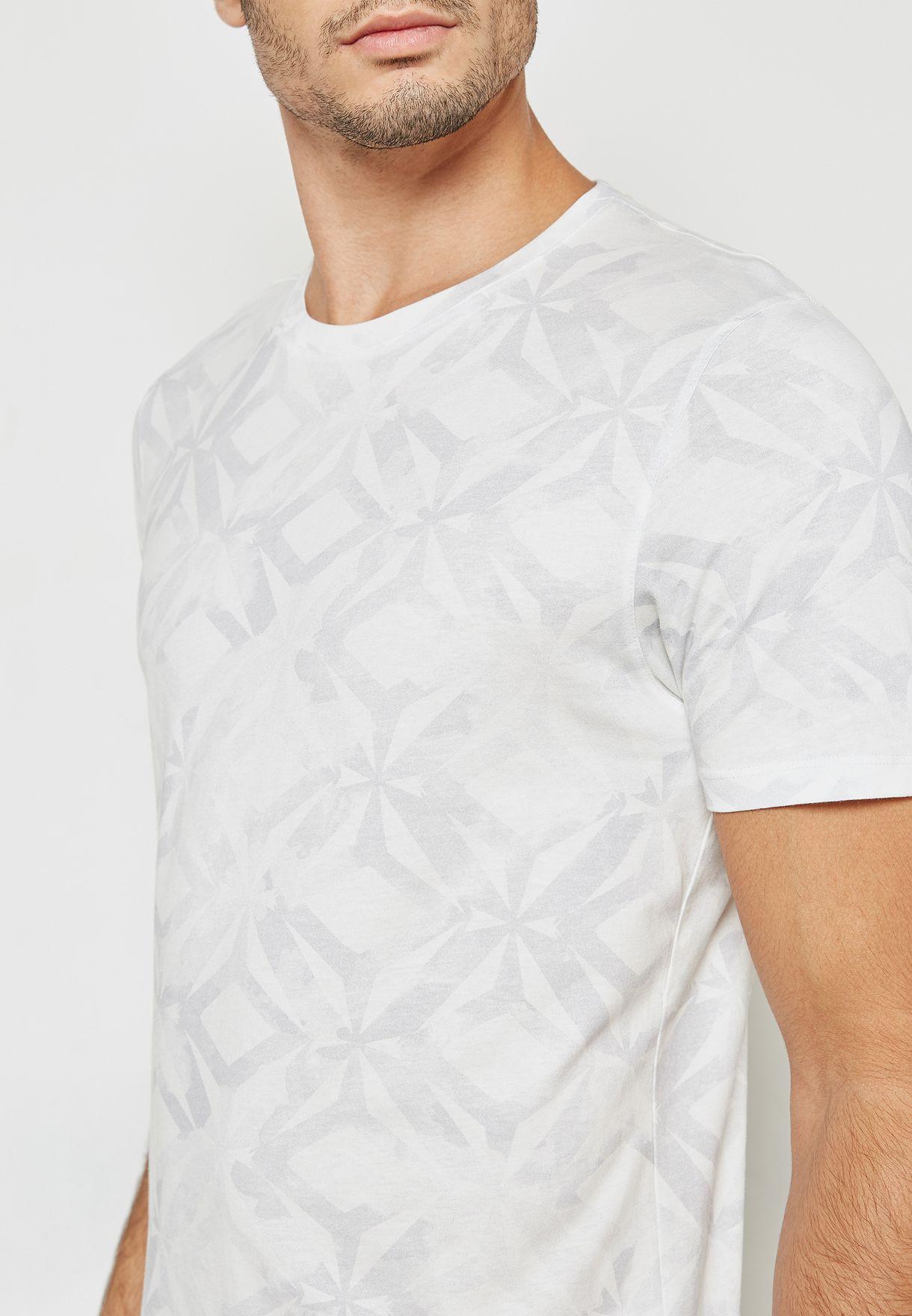 d26f8d915fae9f Shop Ted baker prints Woof Geo Print T-Shirt 141493 for Men in Saudi ...