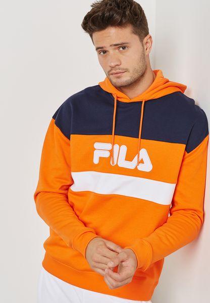 fila hoodie mens orange