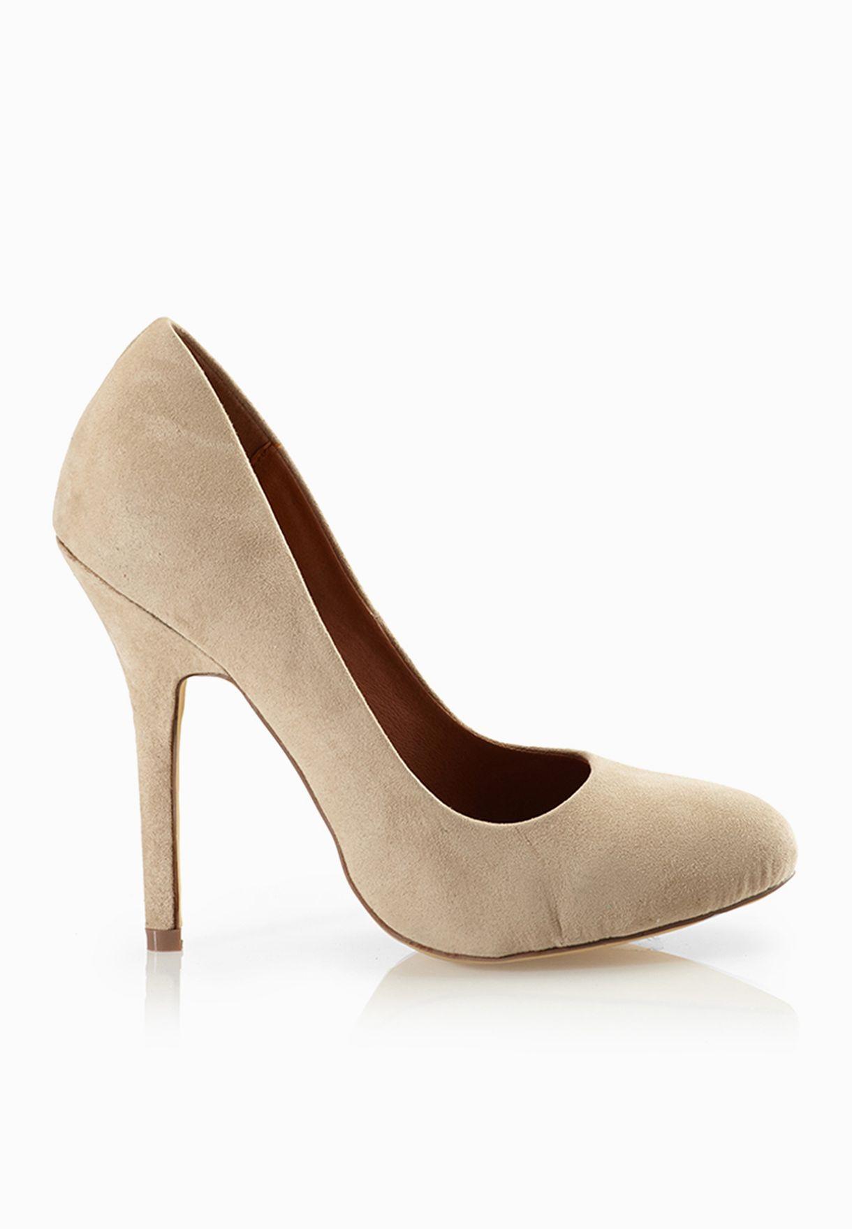 bae40dbad تسوق حذاء بكعب عالي رفيع ماركة سبير بيسيك لون بيج في قطر - SP750SH72QFB