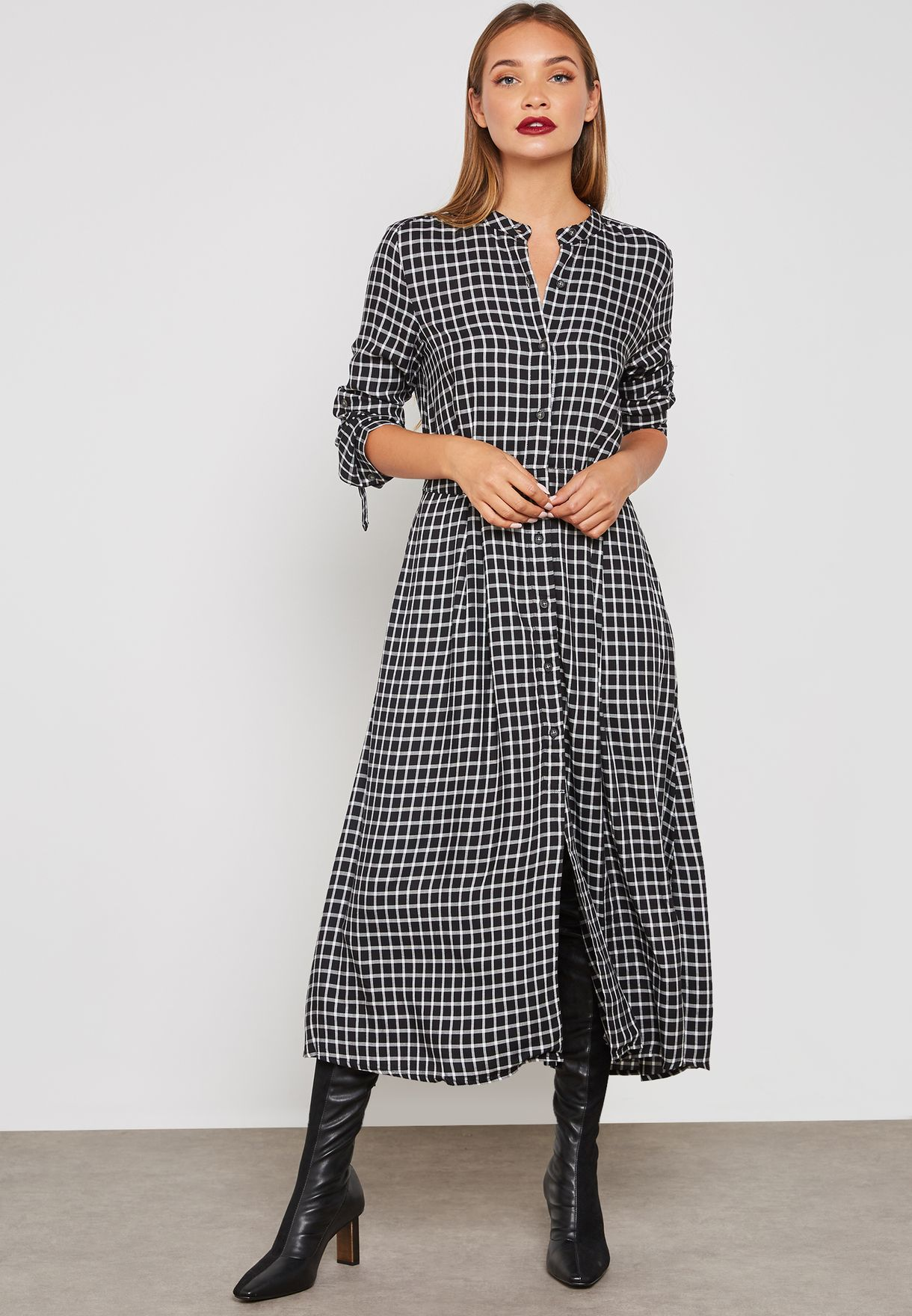 bd6702cf01 Shop Mango prints Gingham Shirt Dress 33027667 for Women in UAE ...