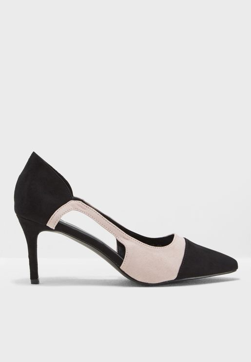 Shay Colourblock Cut Out Pumps