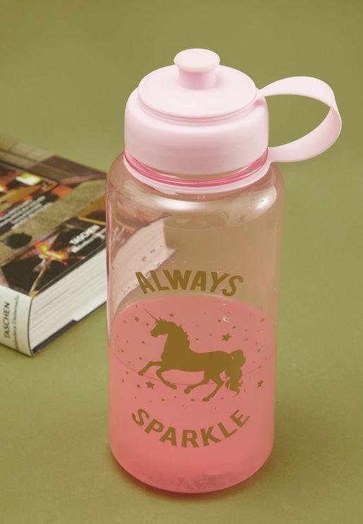 قارورة ماء بطبعة وحيد القرن