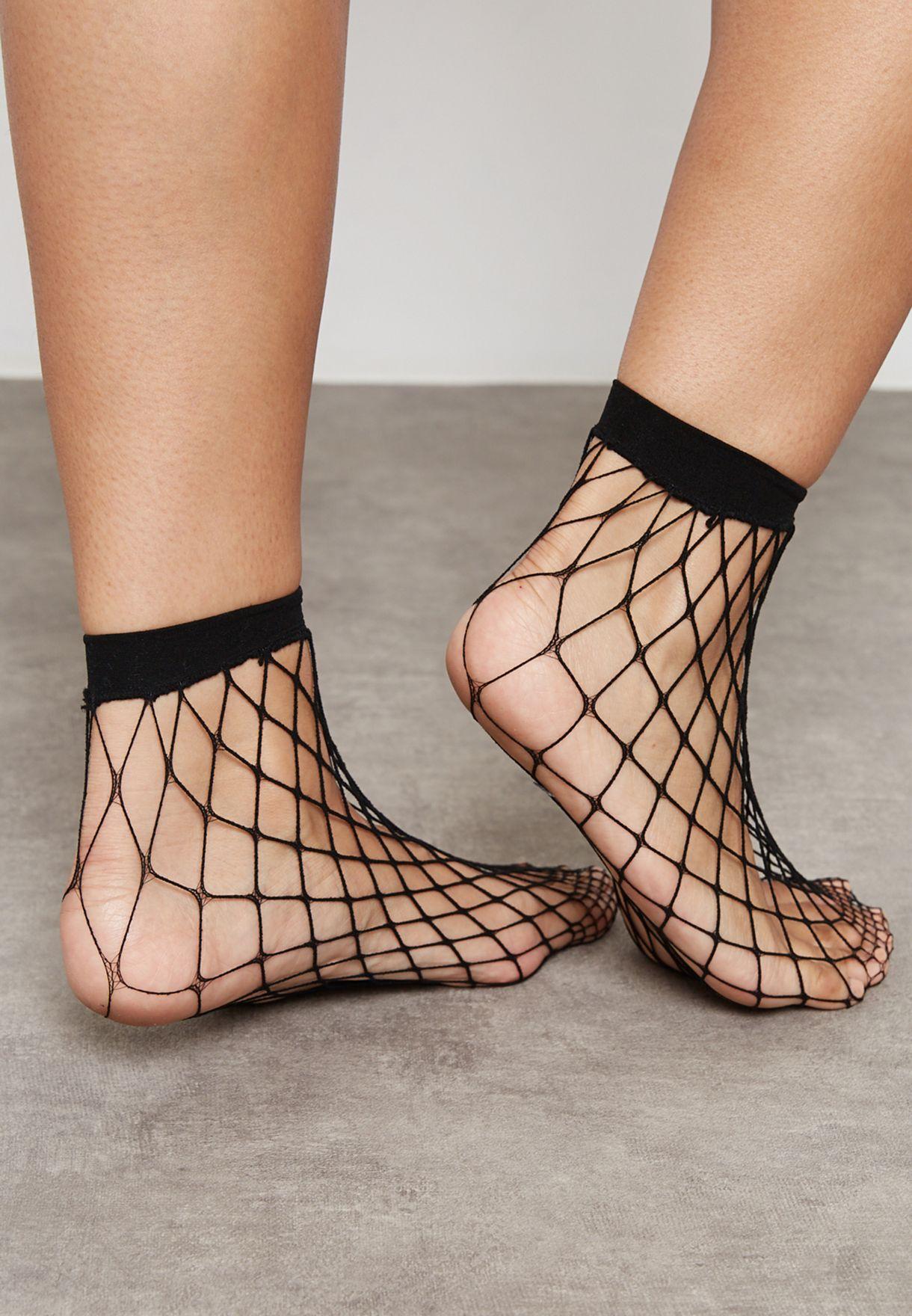 Ankle High Fishnet Socks