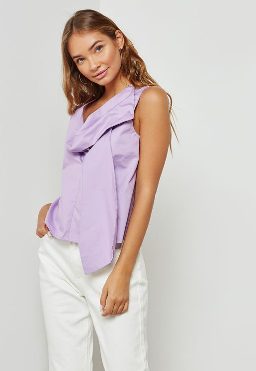 Bow Front Sleeveless Top