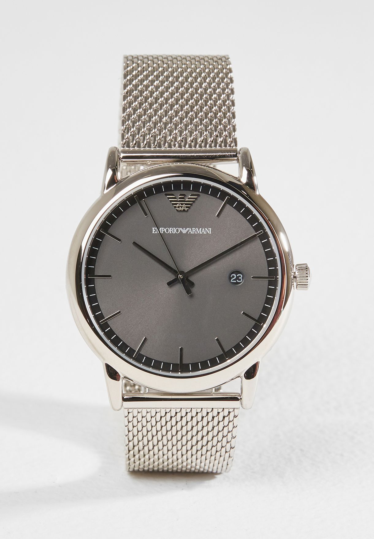 eeb29330f903 Shop Emporio Armani silver Dress Watch AR11069 for Men in Saudi -  EM989AC62GHH