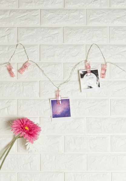 Pink Acrylic Peg Fairy Lights