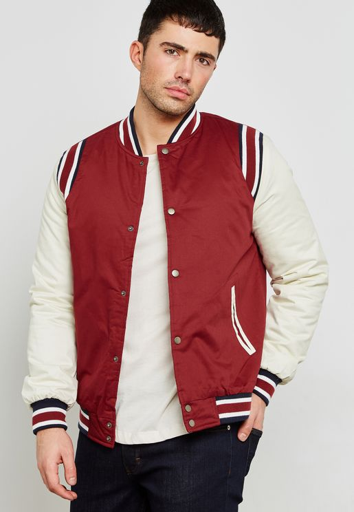Olivios Varsity Contrast Sleeve Jacket