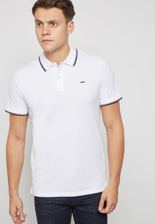 Contrast Stroped Polo