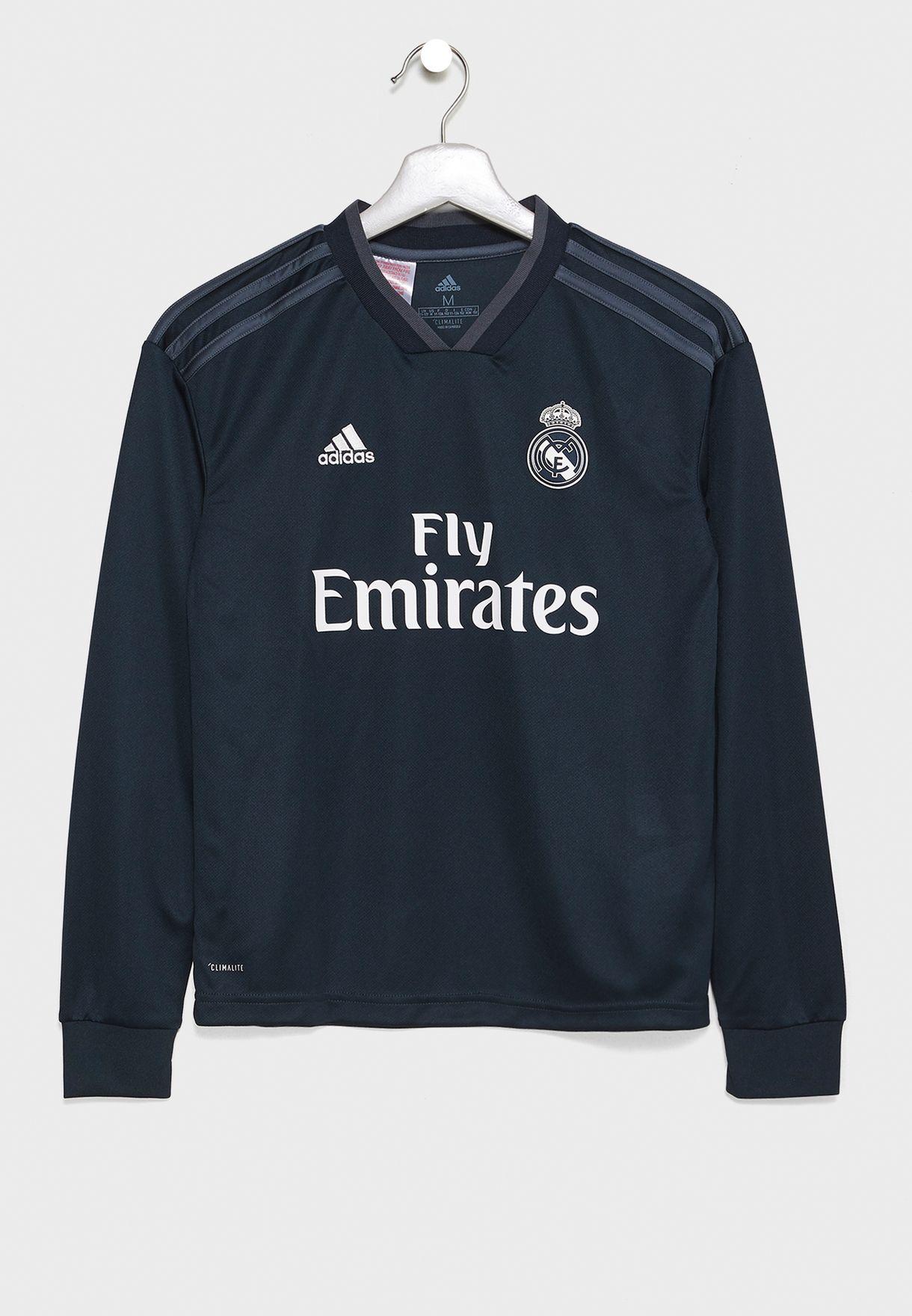 ec3bcfffa Shop adidas grey Youth Real Madrid 18/19 Away Jersey CG0557 for Kids ...