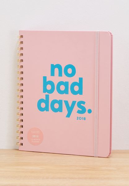 No Bad Days 2018 Planner