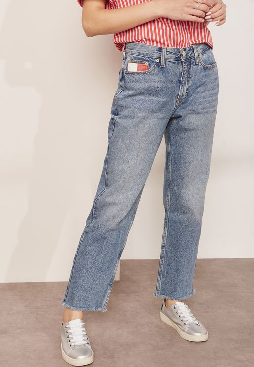 Capsule Mid Wash Mom Jeans