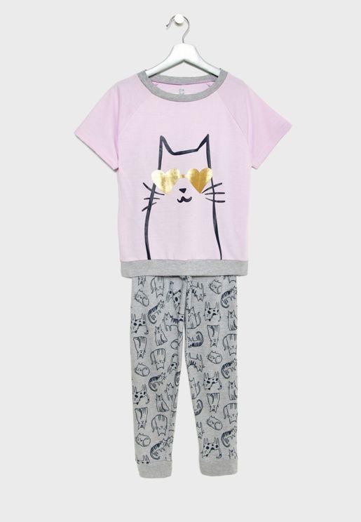Little Cat Pyjama Set