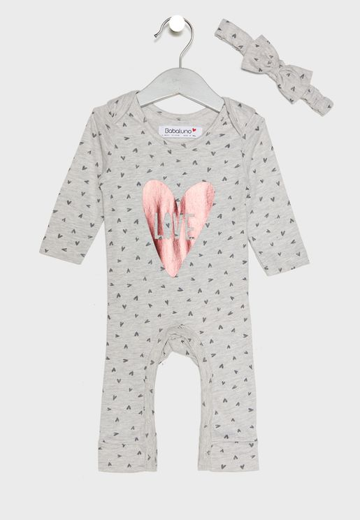 Infant Romper + Headband Set