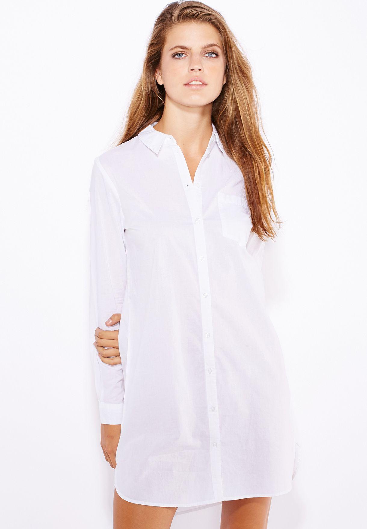 e5f7bf916 تسوق فستان بنمط قميص ماركة جاكلين دي يونج لون أبيض في عمان ...