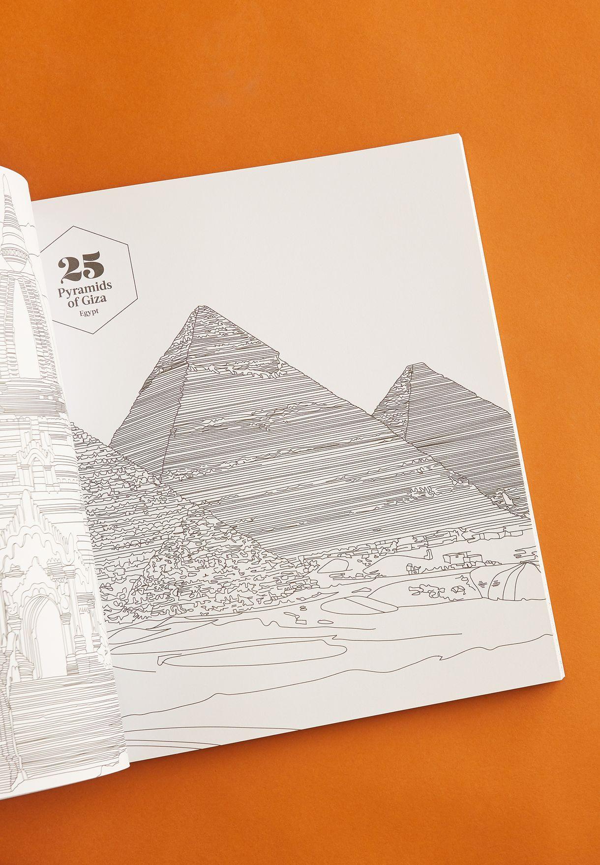 كتاب تلوين لأفضل 100 مكان في العالم