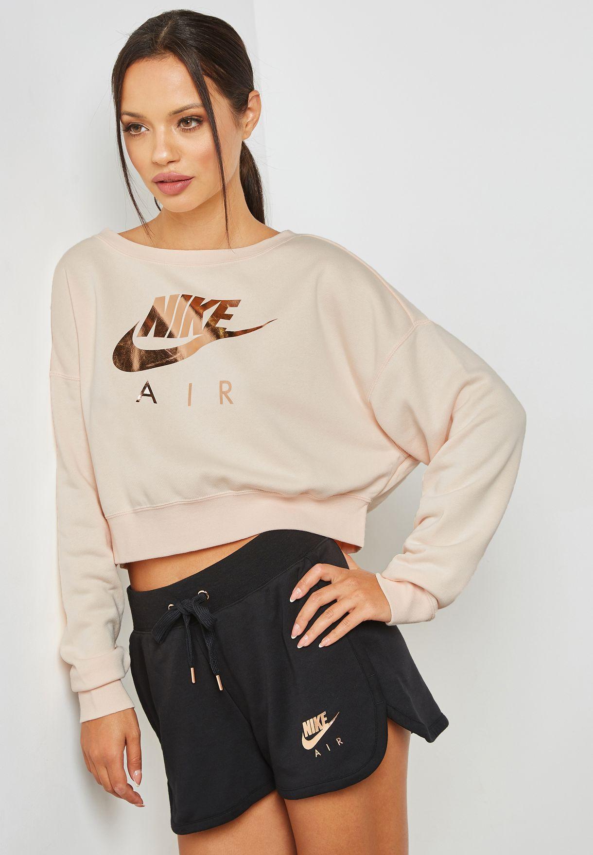 ad04389a7f1ce Shop Nike pink Rally Sweatshirt AV6227-838 for Women in Saudi ...