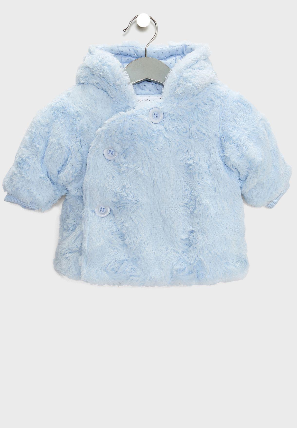 64fd0eba1 Shop Minoti blue Infant Fur Jacket fishing 1 for Kids in Kuwait ...