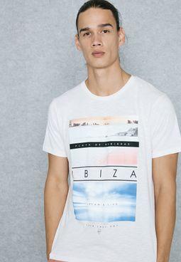 Ibiza Print T-Shirt