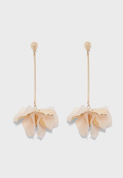 Large Resin Flower Bomb Earrings