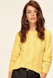 233c42af4f2206 Shop Trendyol yellow Knitted Pullover Sweater TCLAW19FV0030/SARI for Women  in UAE - TR728AT62OFT