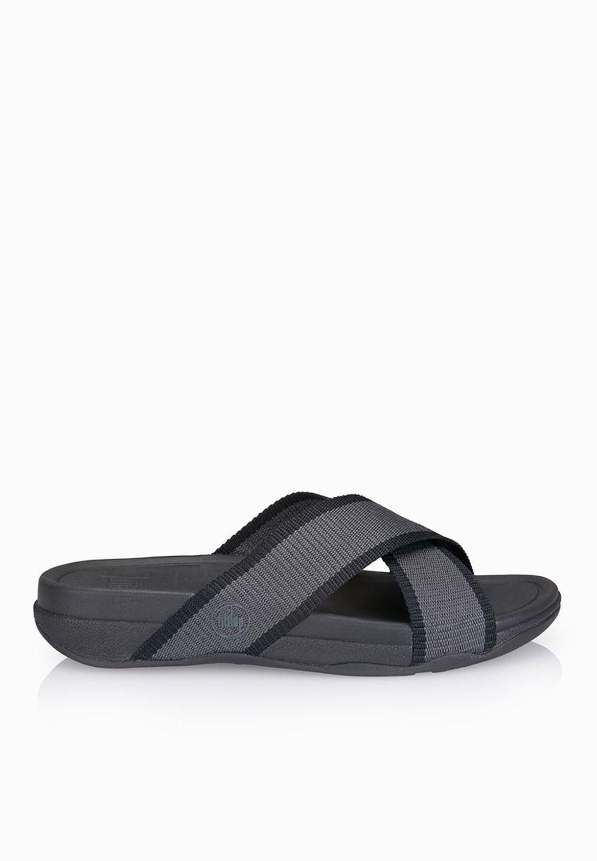 478422c69c66 Shop Fitflop grey Surfer Sandals 487-168 for Men in UAE - FI008SH62HZX