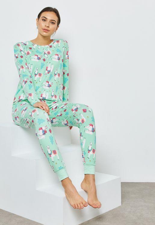 Llama Pyjama Set