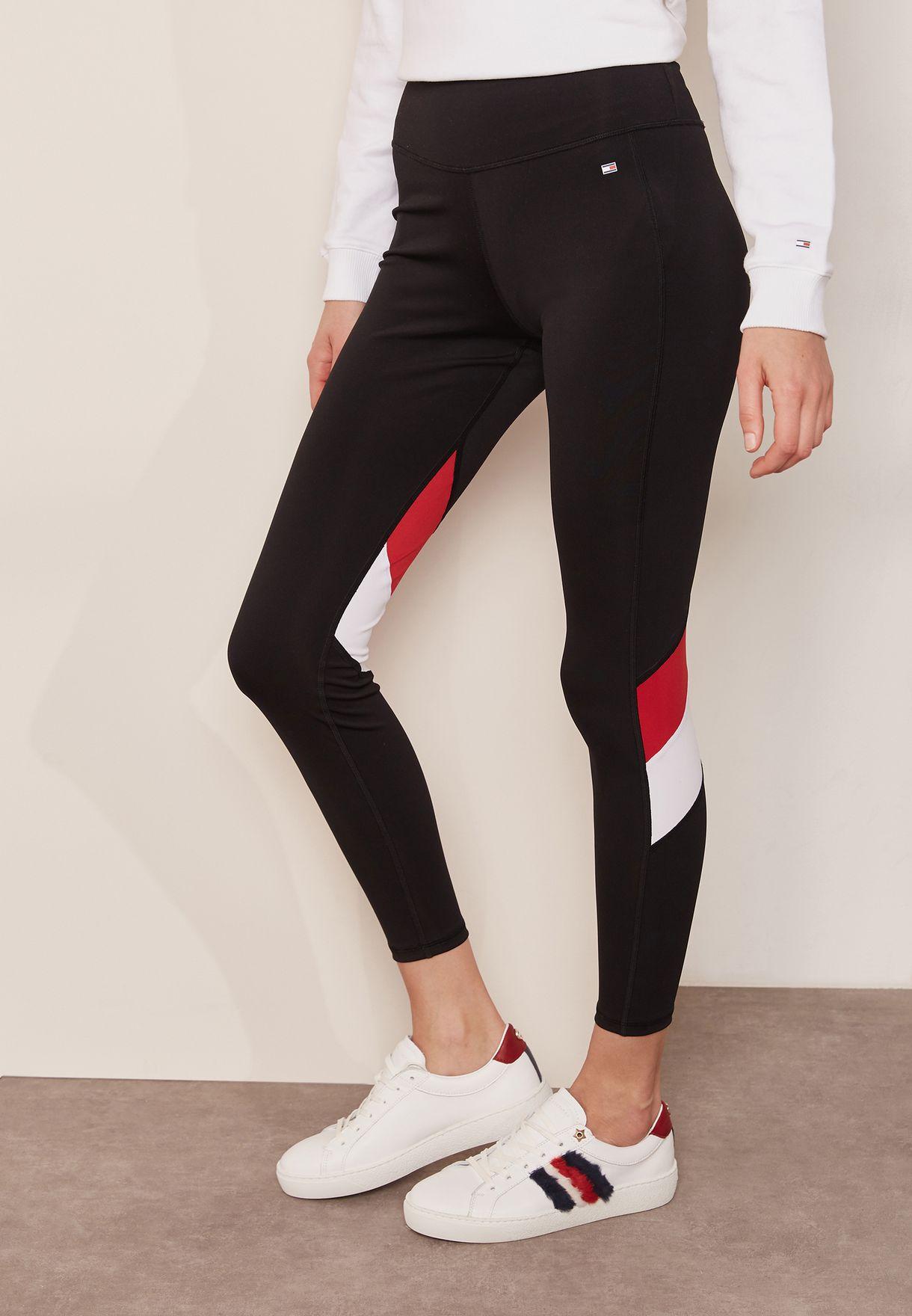 6f10fe186353b Shop Tommy Hilfiger black High Waist Contrast Leggings WW0WW21725 for Women  in UAE - TO279AT62LSN