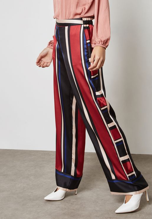 Striped Wide Leg Pants