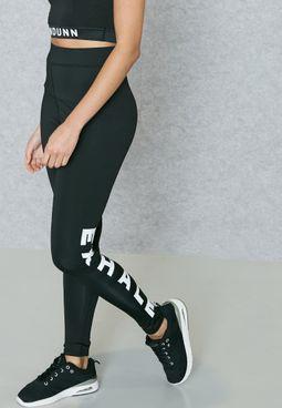 High Waist Slogan Leggings
