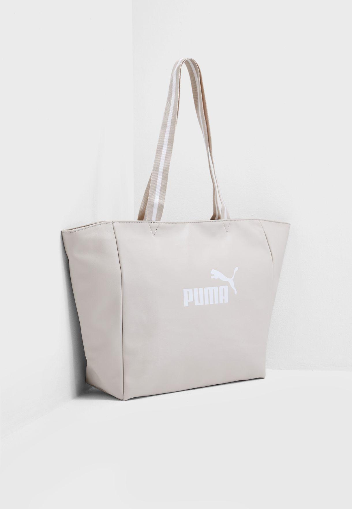 e629c272ad Shop PUMA white Core Up Large Shopper 7595302 for Women in UAE ...