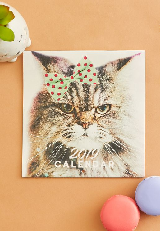 Mini Square Cats Calendar