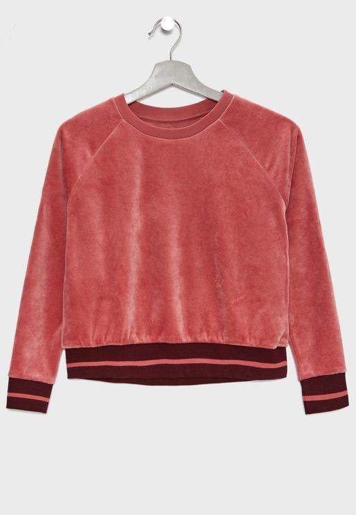 Kids Velour Sweatshirt