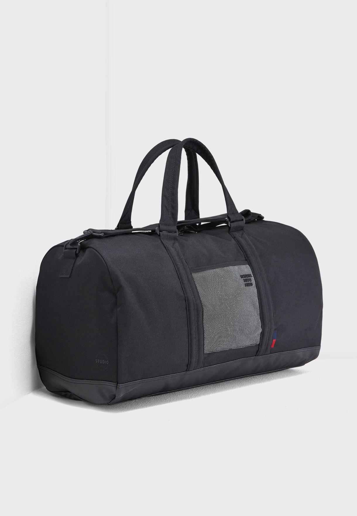 7d428c71d0cf Shop Herschel black Studio Novel Duffel Bag 42.5L 10026-02217-OS for ...