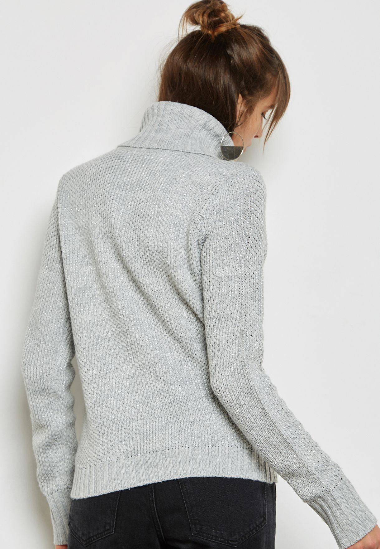 Frill High Neck Sweater