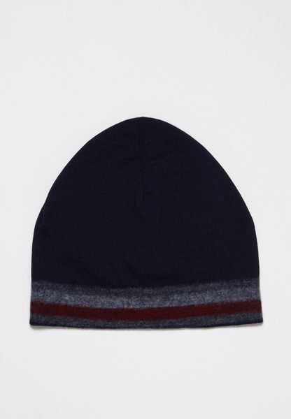 Knitted Corporate Stripe Edge Beanie