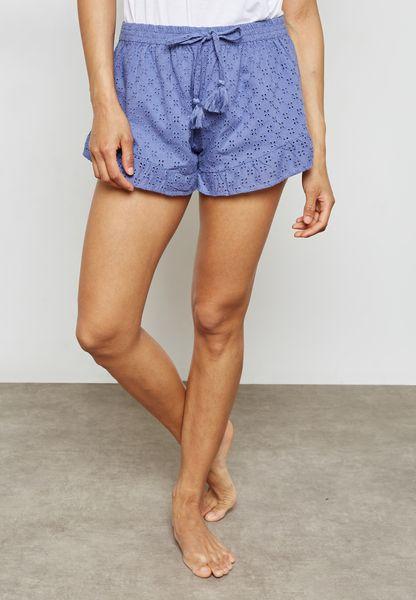 Tie Waist Printed Shorts