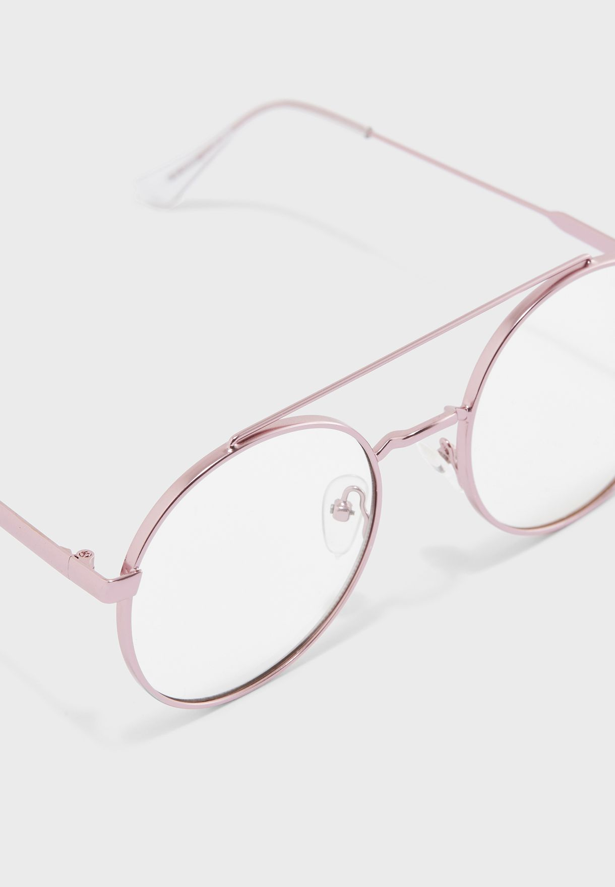 نظارات شمسية دائرية شفافة