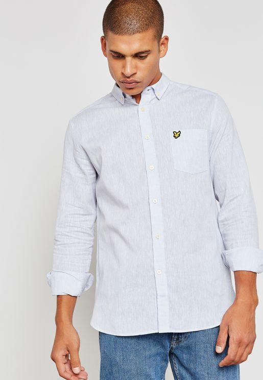 Logo Plain Slim Fit Shirt